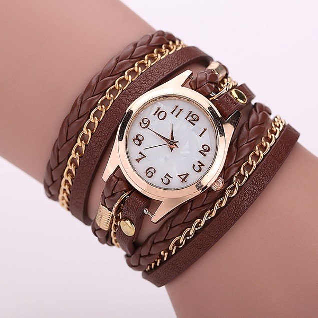 Florence Scovel- Gold Dial Quartz Watch