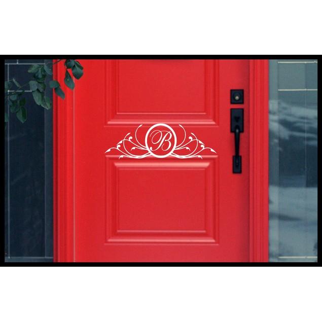 Personalized Initial Door Decal 6