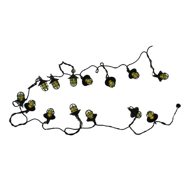 Set Of 15 Led Harbor String Lights Frosted Amber String Lights