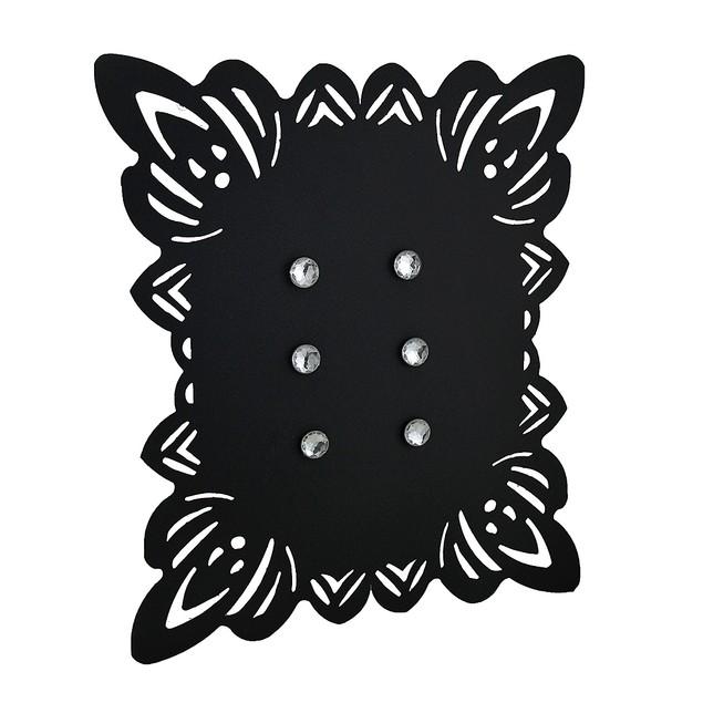 Elegant Framed Black Metal Magnetic Memo Board Message Boards