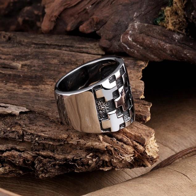 Multiple Cross Stainless Steel Ring