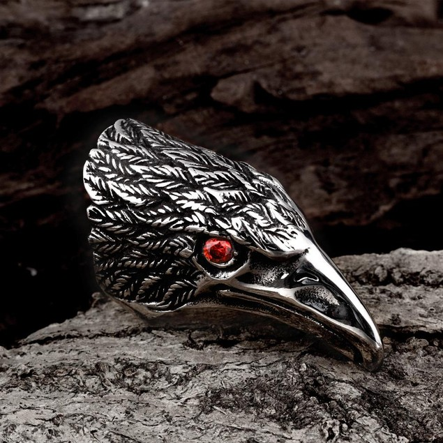 The Falcon's Beak Stainless Steel Ring