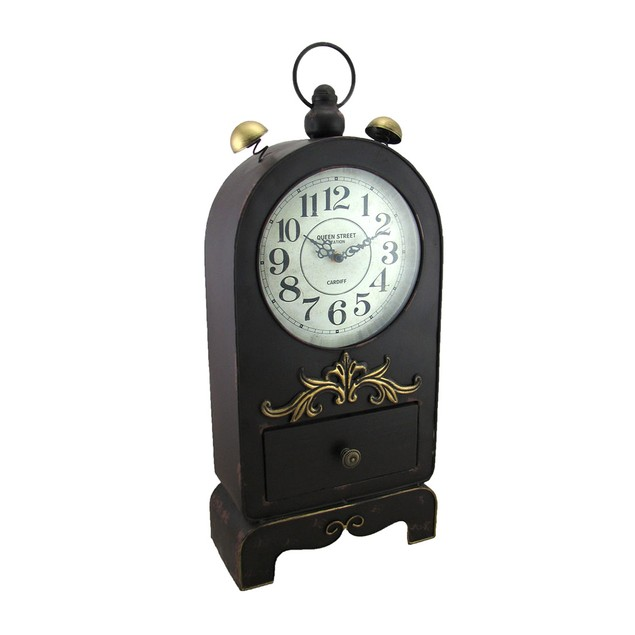 Antique Style Queen Street Station Table Clock W/ Table Clocks