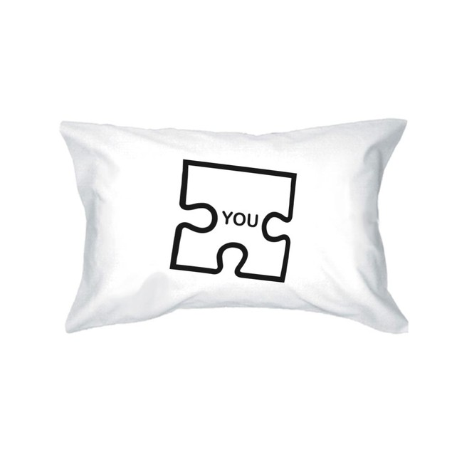 """Couple Matching Puzzle Design """"Me"""" and """"You"""" Pillowcase"""