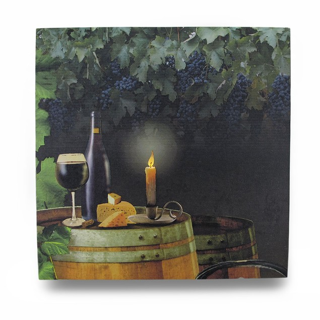 Wine By Candle Light Lighted Led Canvas Wall Prints
