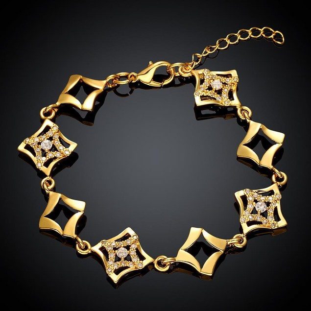 Gold Plated Aztec Ingrained Bracelet