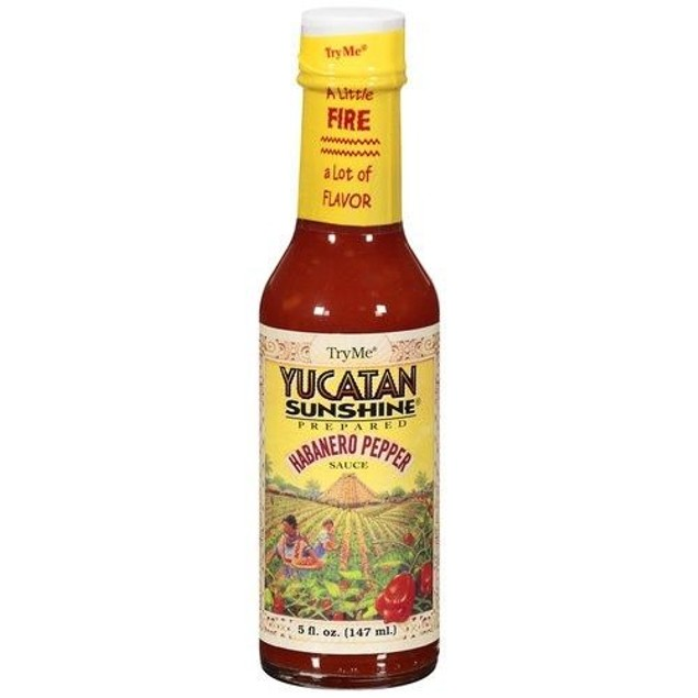 Try Me Yucatan Sunshine Habanero Pepper Sauce 5 oz Bottle