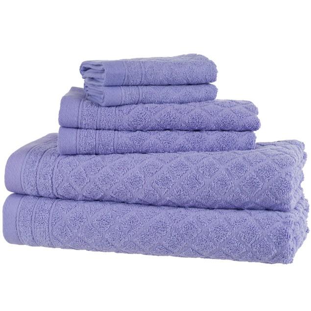 6 Piece: Diamond Bath Towel Set