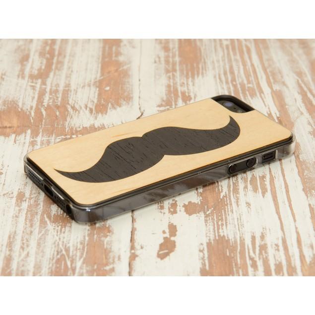 Handlebar Mustache Inlay iPhone 5 Clear