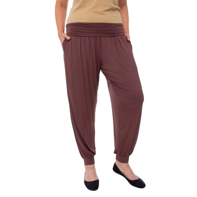 Plus Size Women's Fold-Over Harem Pants