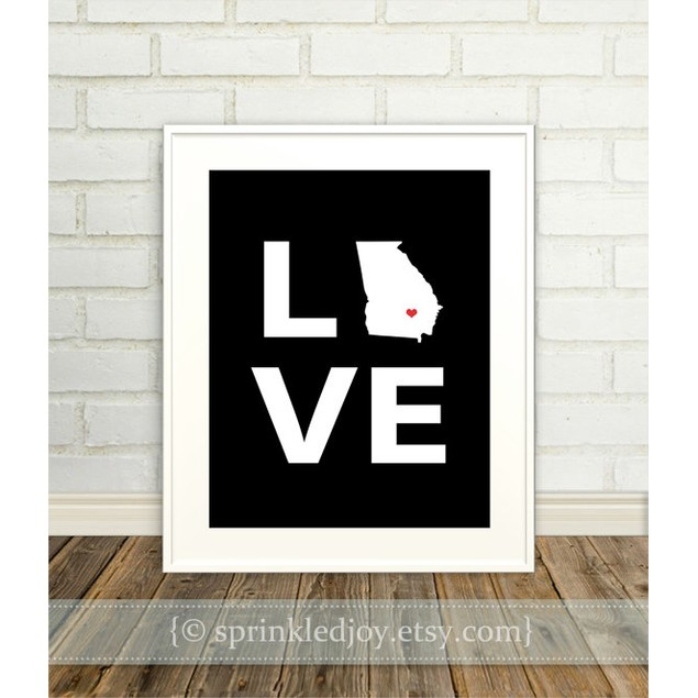 State Love Customizable 8x10 Print