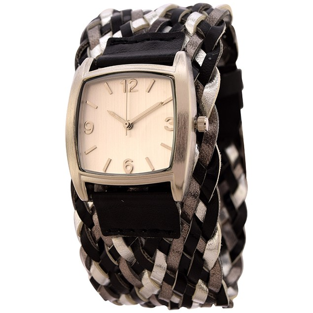 FMD by Fossil Braided Ladies 3-Hand Analog - FMDX203