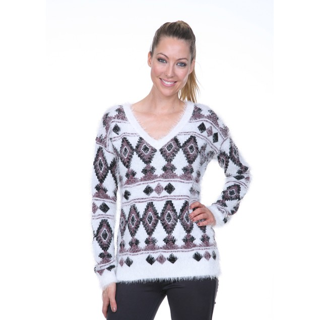Argyle Print Sweater - 4 Colors