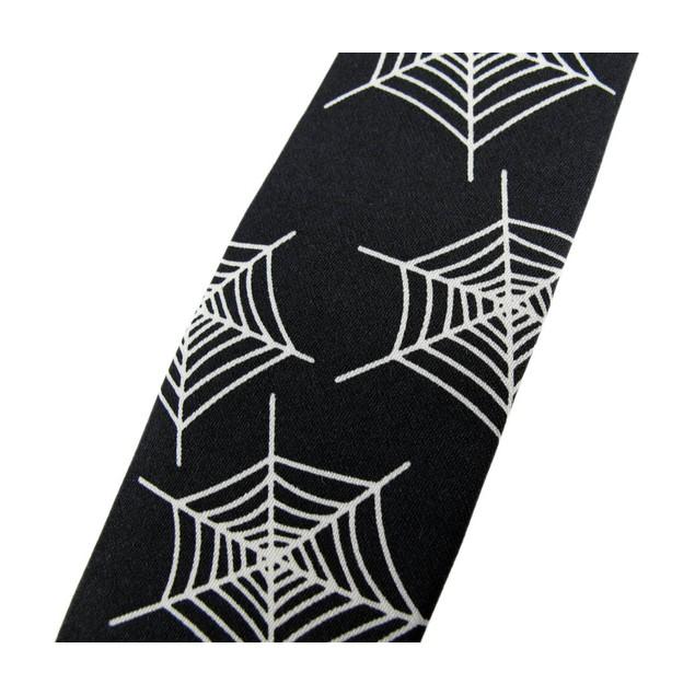 Spiderweb Print Skinny Tie Necktie Tie Spider Web Mens Neckties