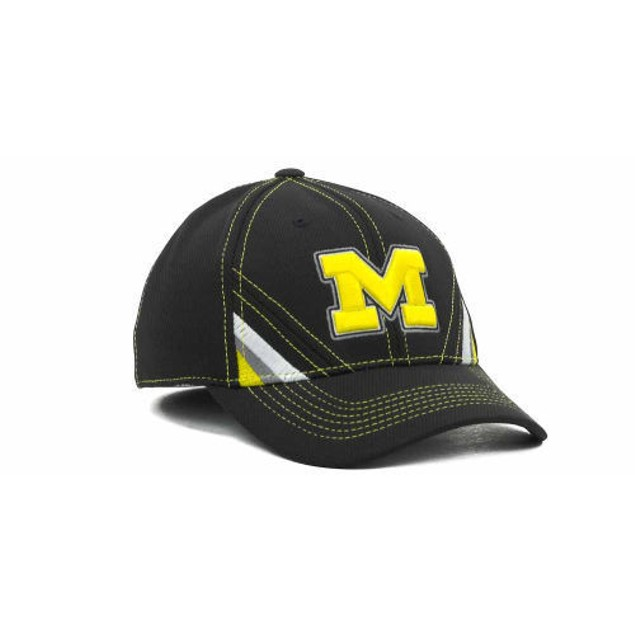 """Michigan Wolverines NCAA TOW """"Pace"""" Stretch Fitted Hat"""