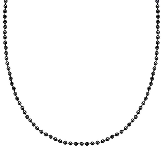 Unisex Italian Design Bead Chain Necklace