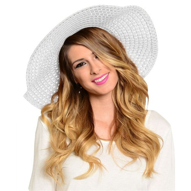 Floppy Straw Hat - 2 Colors
