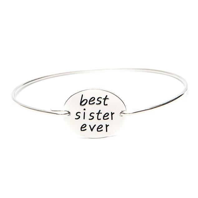 Best Sister Ever Bangle Bracelet - 2 Colors