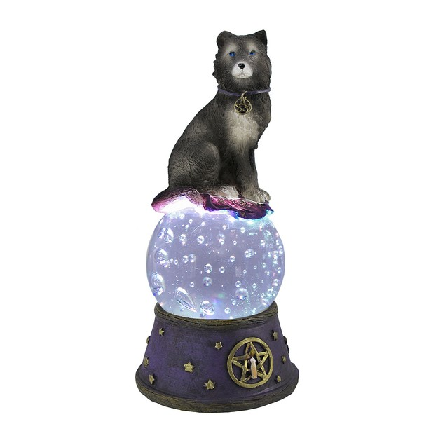 Majestic Wolf Led Lighted Crystal Ball Statue Statues
