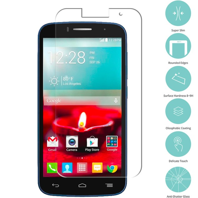 Alcatel One Touch Fierce 2 7040T Tempered Glass Film Screen Protector Clear