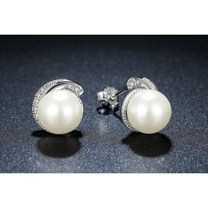 Faux Pearl Stud Earrings