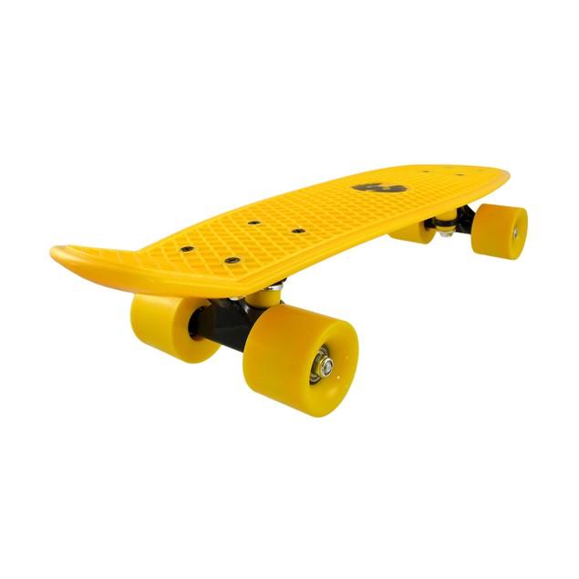 Rekon Neon Yellow Banana Cruiser Skateboard 22 1/2 Standard Skateboards