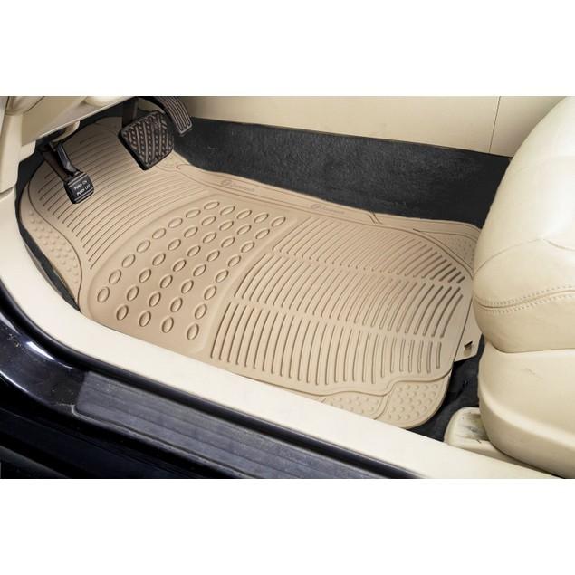 Zone Tech Beige Universal Fit  Car Vehicle Floor Mats
