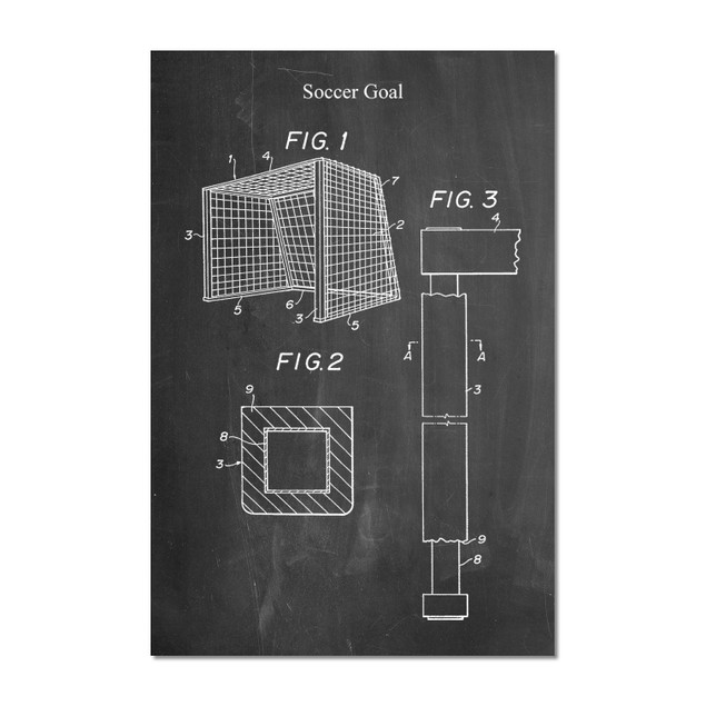 Soccer Goal Patent Poster