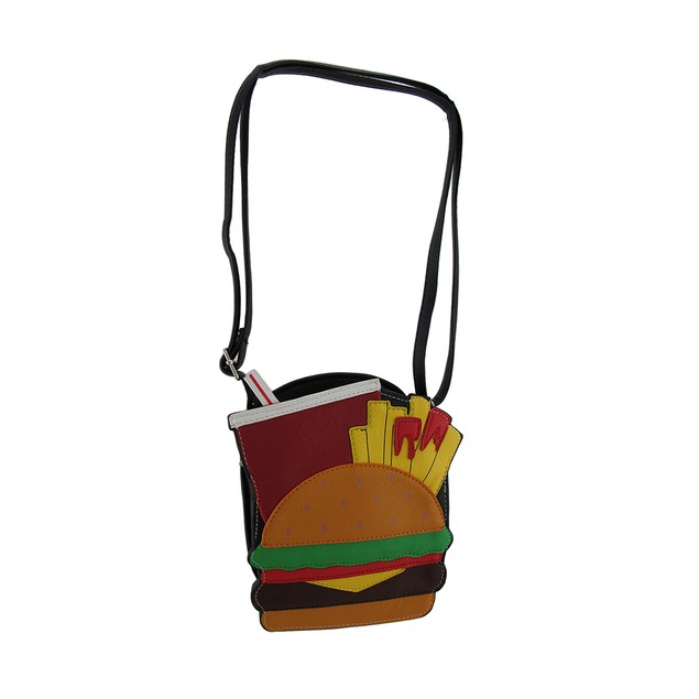 Yummy Burger Fries And Soda Shaped Crossbody Purse Womens Cross Body Bags