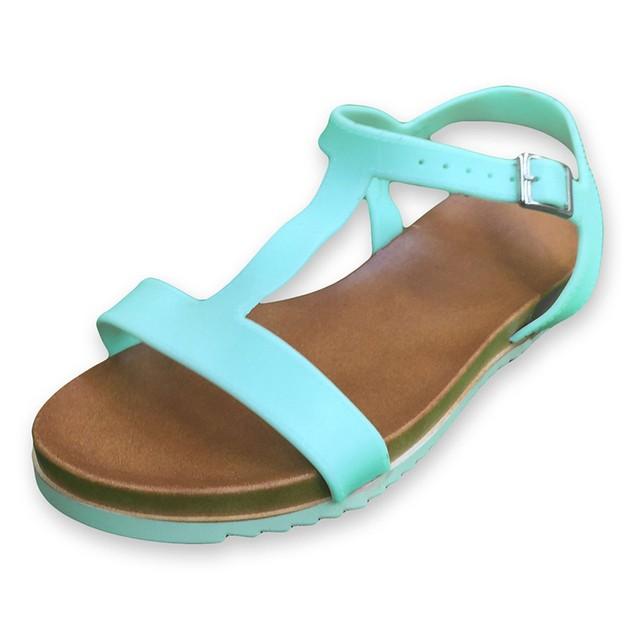 Women's Flat Ankle-Strap Sandals