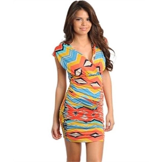 Juniors Multi-Colored Dress New