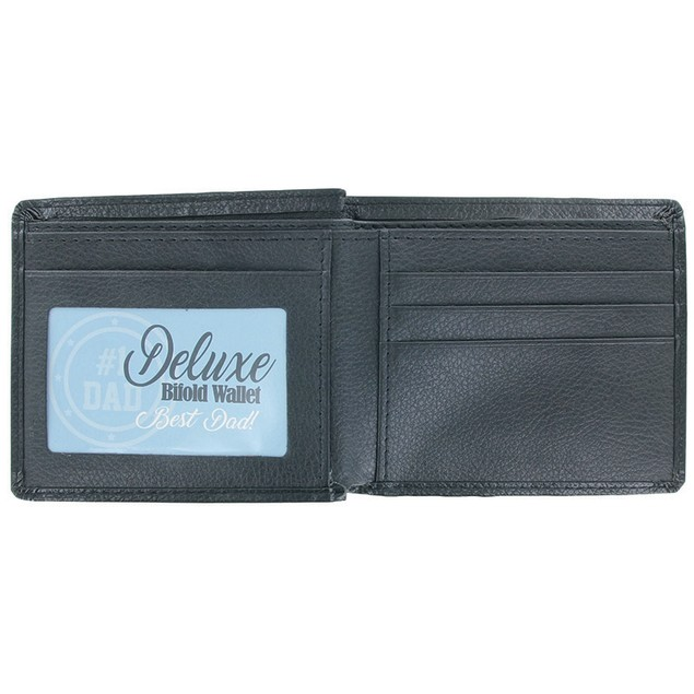 #1 Dad Deluxe Genuine Leather Bifold Wallet