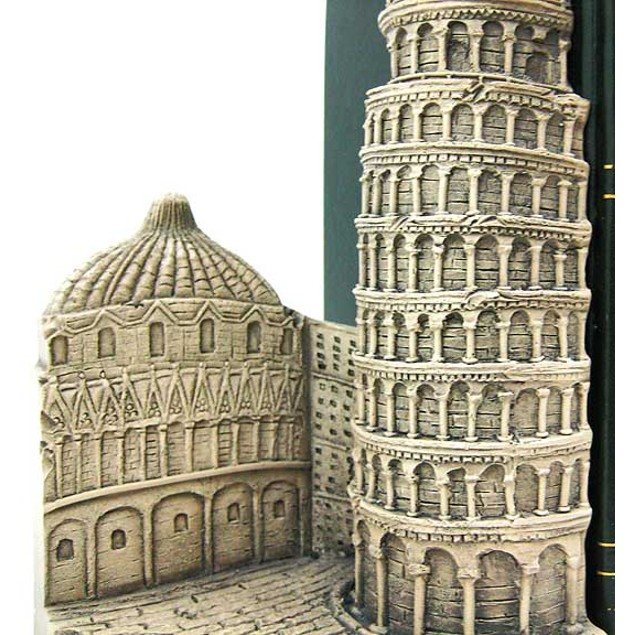 Leaning Tower Of Pisa Bookends Italy Decorative Bookends