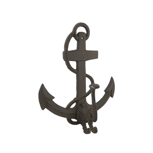 Cast Iron Nautical Anchor Distressed Finish Decorative Wall Hooks