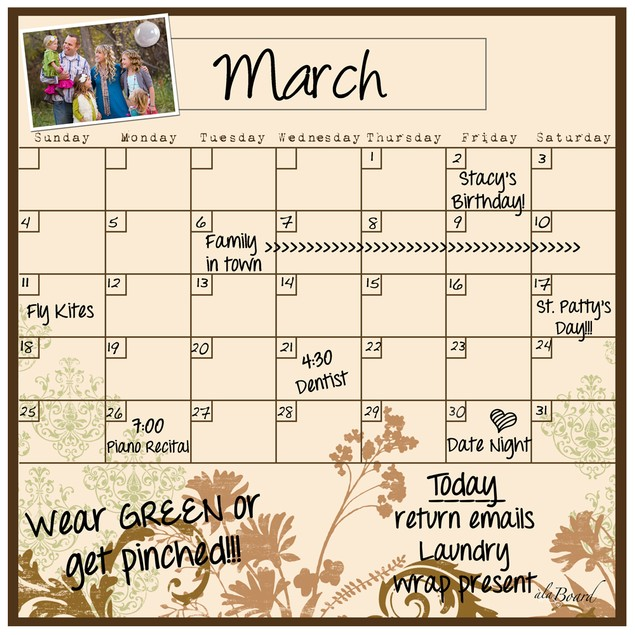 Monthly Calendar Magnet (11.5 x 11.5) - 14 Colors