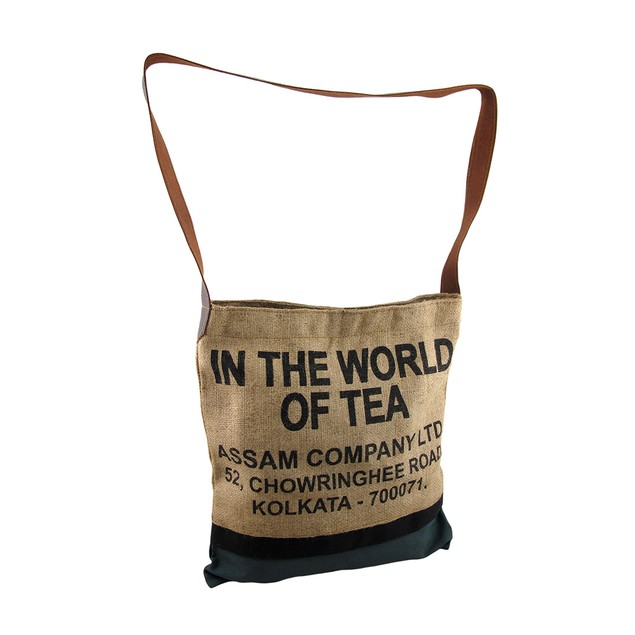 In The World Of Tea Burlap And Canvas Cross Body Womens Cross Body Bags