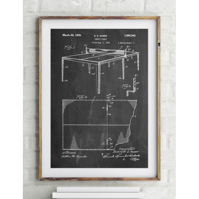 Table Tennis Patent Poster