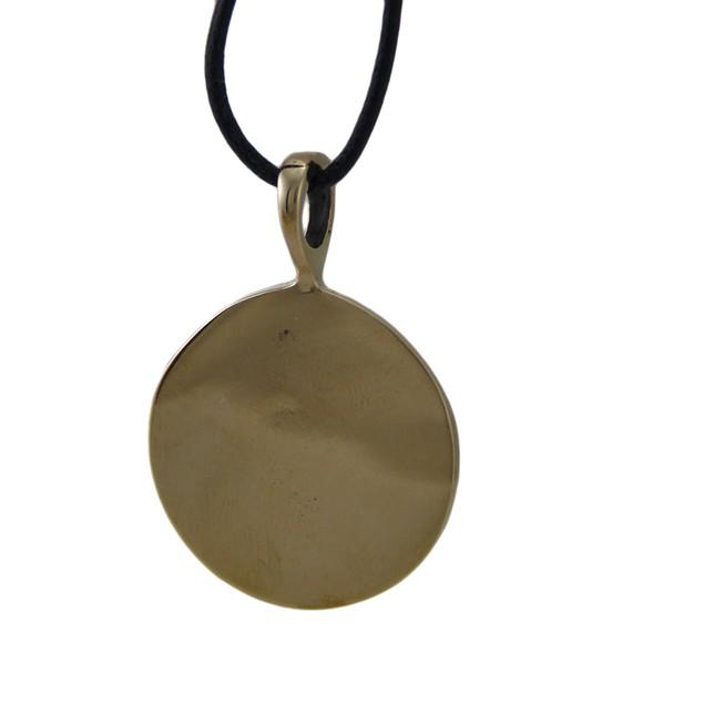 Bronze Finish Celtic Pentacle Pendant W/ Garnet Mens Pendant Necklaces