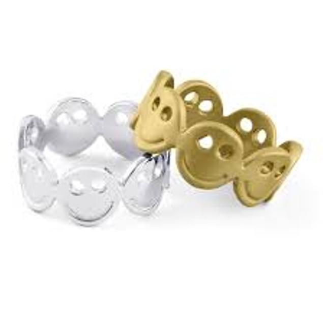 Gold Eternity Emoji Ring - 2 Colors