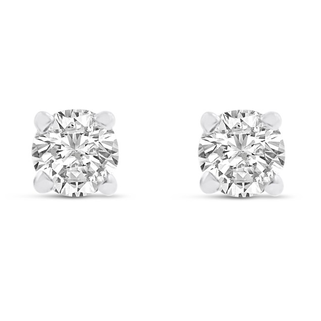 14k White Gold 1/4 Carat Genuine Diamond Stud Earrings