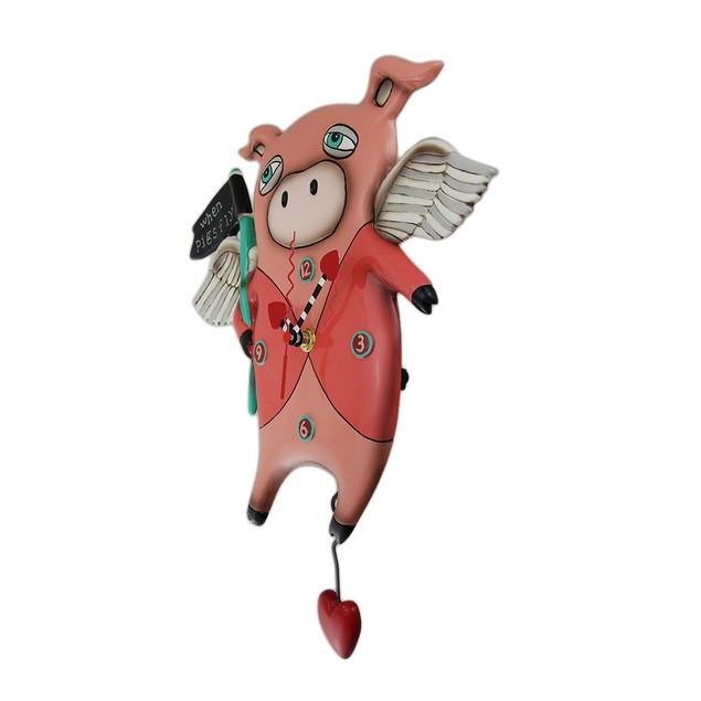 Allen Designs When Pigs Fly Pendulum Wall Clock 13 Wall Clocks