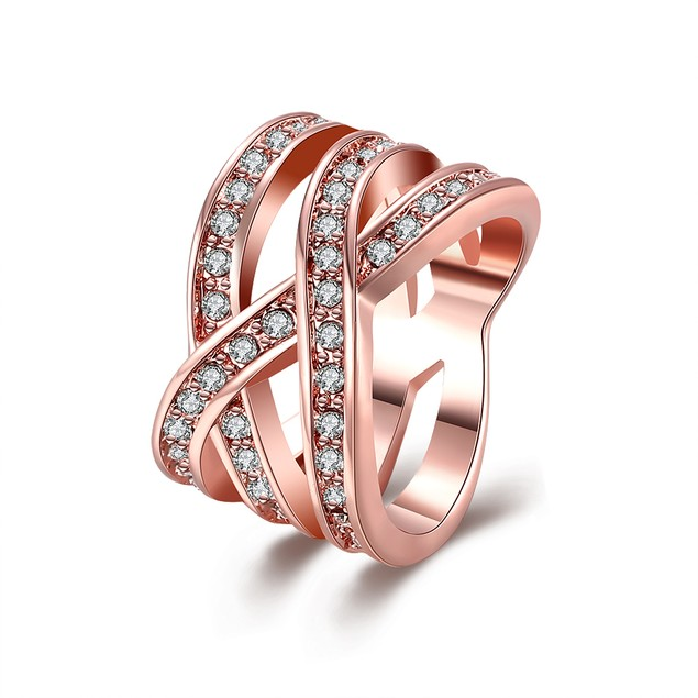 Infinity Ring with Austrian Crystal