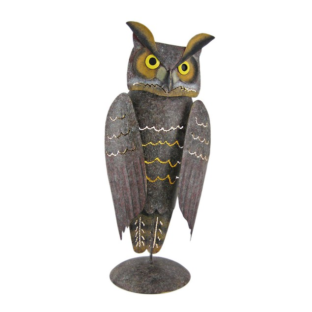 Hand Painted Metal Owl Votive Candle Holder Votive Holders