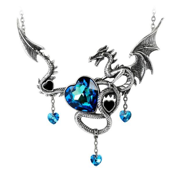Alchemy Gothic Draig O Gariad Necklace Necklaces