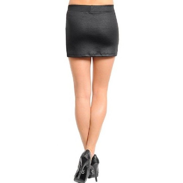 Juniors Mini-Skirt Black and Gold New by Manito