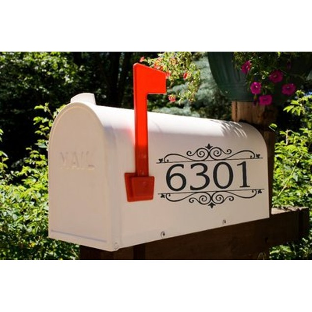 Classic Scroll Address Decal