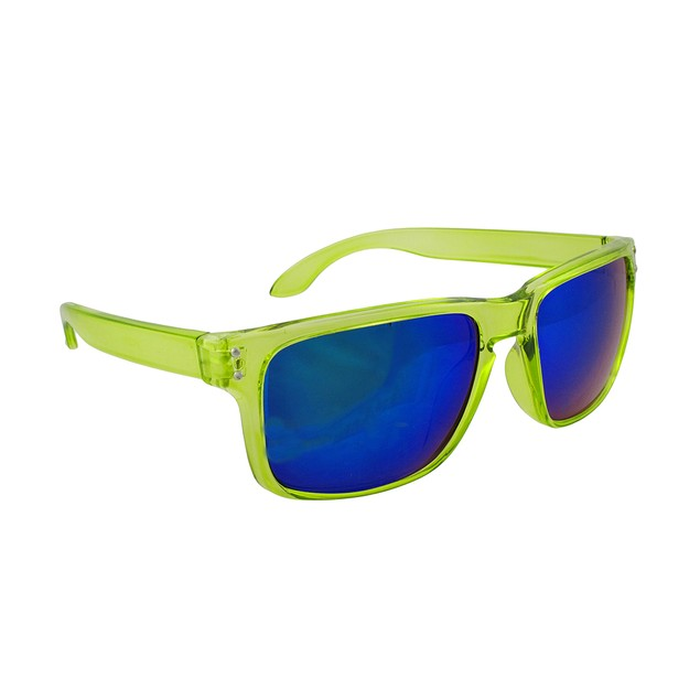 Sport Sunglasses With Clear Yellow Frames/Blue Mens Sunglasses