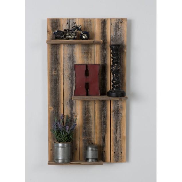 Rustic Mod - Reclaimed Wood Wall Shelf