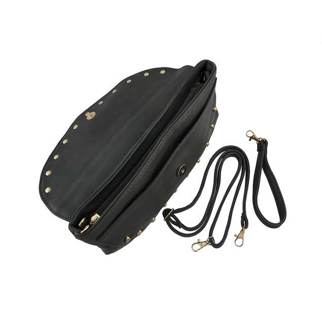 Gray Evening Clutch Bag With Goldtone Skull Beads Womens Evening Handbags