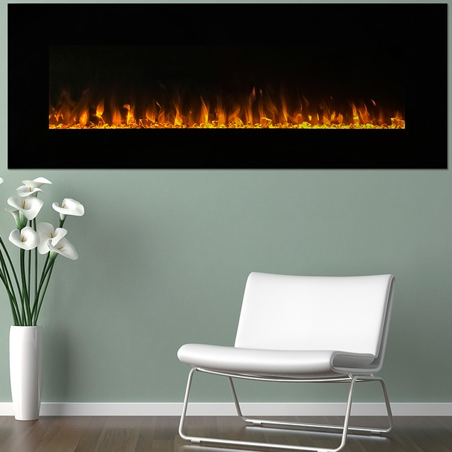 """Northwest 54"""" LED Fire and Ice Electric Fireplace"""